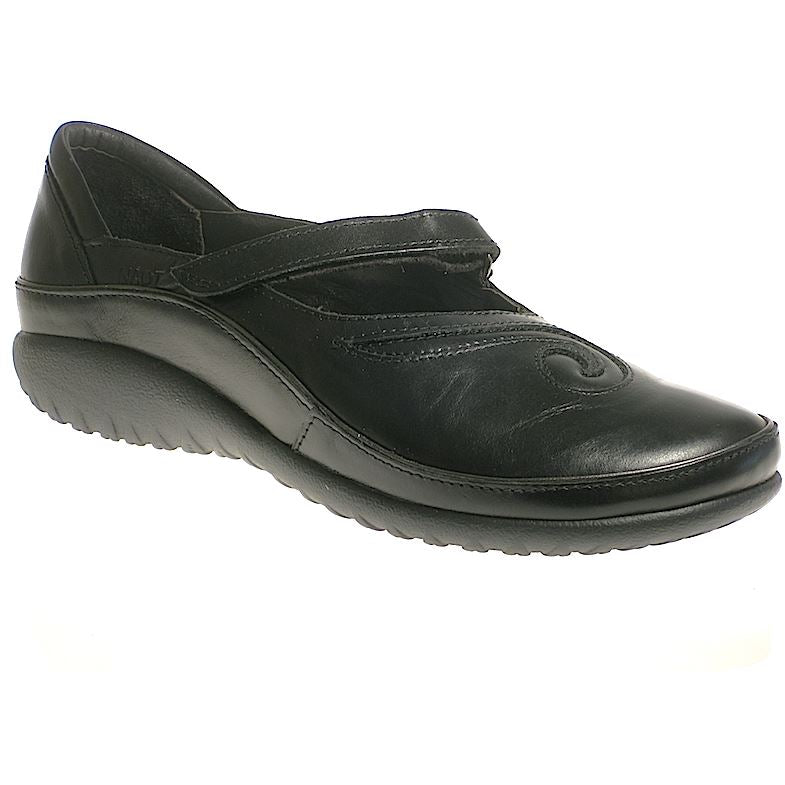 NAOT, Matai, Leather Removable Innersole, Medium Width Shoes Naot Black Madras 43