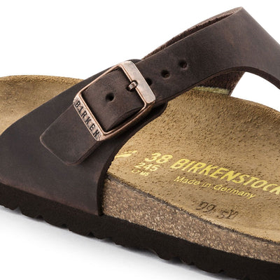 Birkenstock Classic, Gizeh, Regular Fit, Natural Leather, Habana
