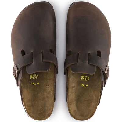 Birkenstock Classic, Boston, Regular Fit, Oiled Leather, Habana