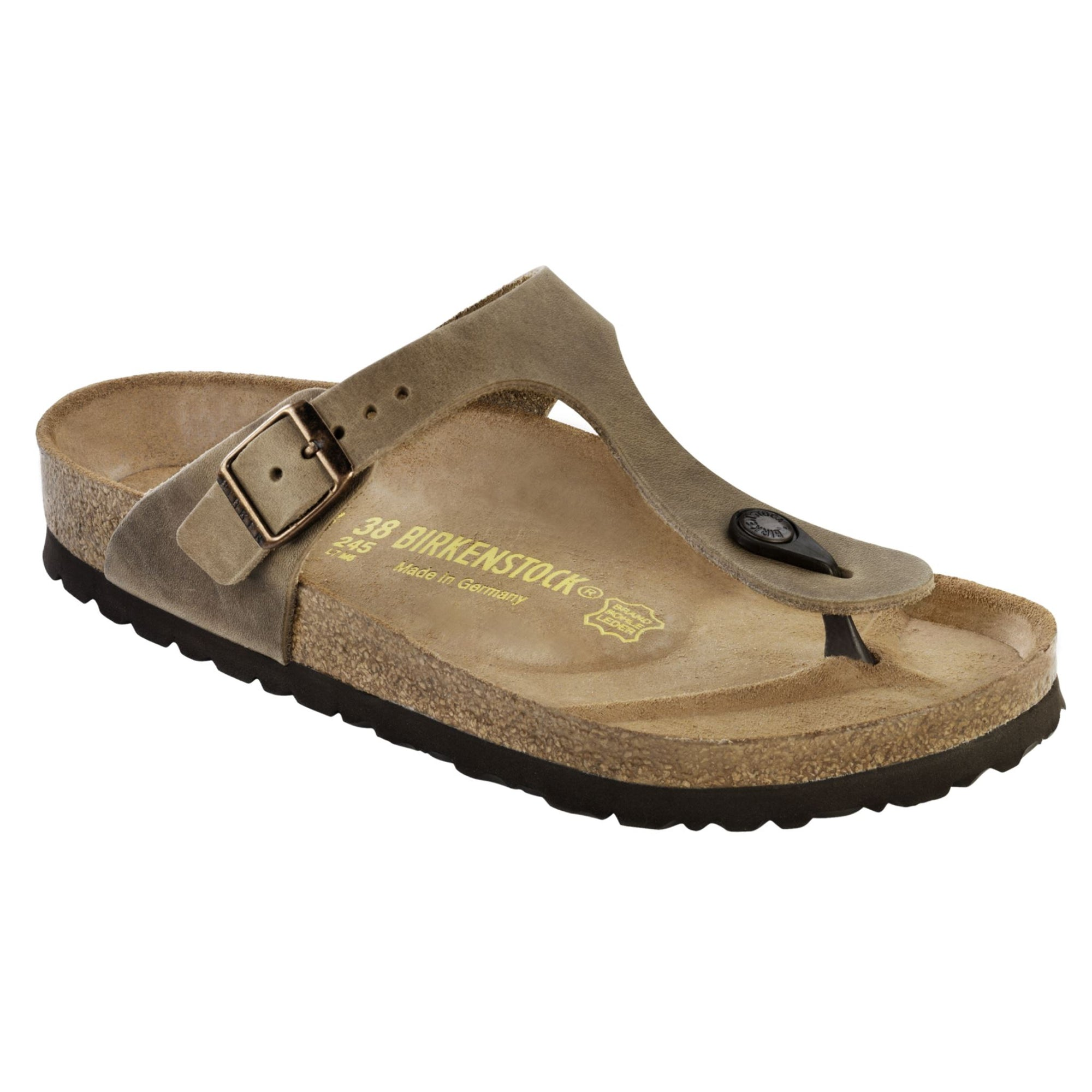 Birkenstock, Gizeh, Regular Fit, Natural Leather, Tabacco Brown Sandals Birkenstock Classic Tabacco Brown 44