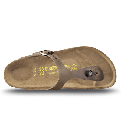 premium selection 74504 80972 Birkenstock, Gizeh, Regular Fit, Natural Leather, Tabacco Brown