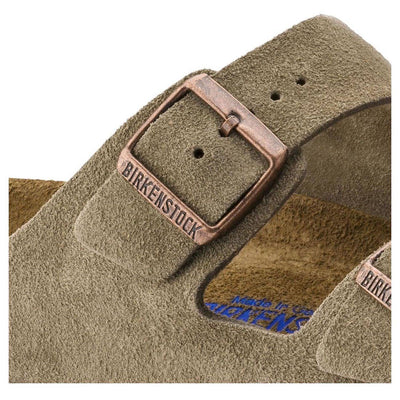 Birkenstock Classic, Arizona, Soft Footbed, Suede Leather, Narrow Fit, Taupe Sandals Birkenstock Classic