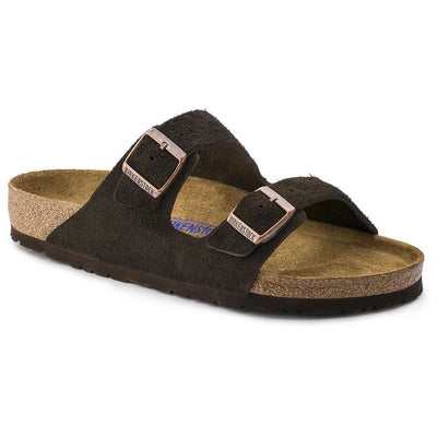 Birkenstock Classic, Arizona, Suede Leather, Soft-footbed, Regular Fit, Mocca Sandals Birkenstock Classic Mocca 36