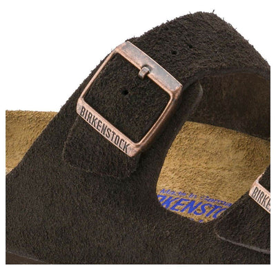 Birkenstock Classic, Arizona, Suede Leather, Soft-footbed, Regular Fit, Mocca Sandals Birkenstock Classic