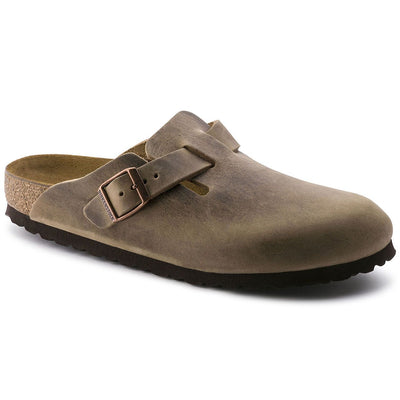 Birkenstock, Boston, Regular Fit, Natural Leather, Tobacco