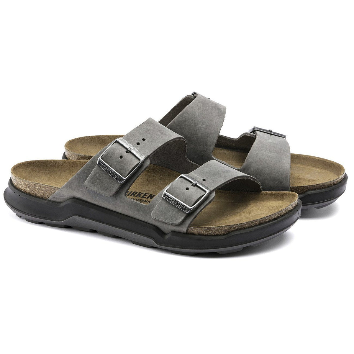 Birkenstock Adventure, Arizona, Nubuck Oiled Leather, Regular Fit, Iron Sandals Birkenstock Adventure