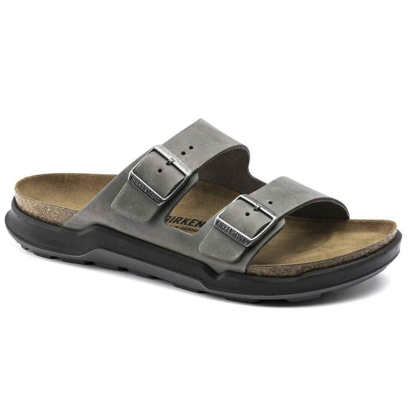 Birkenstock Adventure, Arizona, Nubuck Oiled Leather, Regular Fit, Iron Sandals Birkenstock Adventure Iron 40