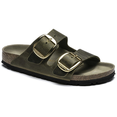 Birkenstock Seasonal, Arizona, Big Buckle, Oiled Leather, Regular Fit, Jade Sandals Birkenstock Seasonal Jade 36