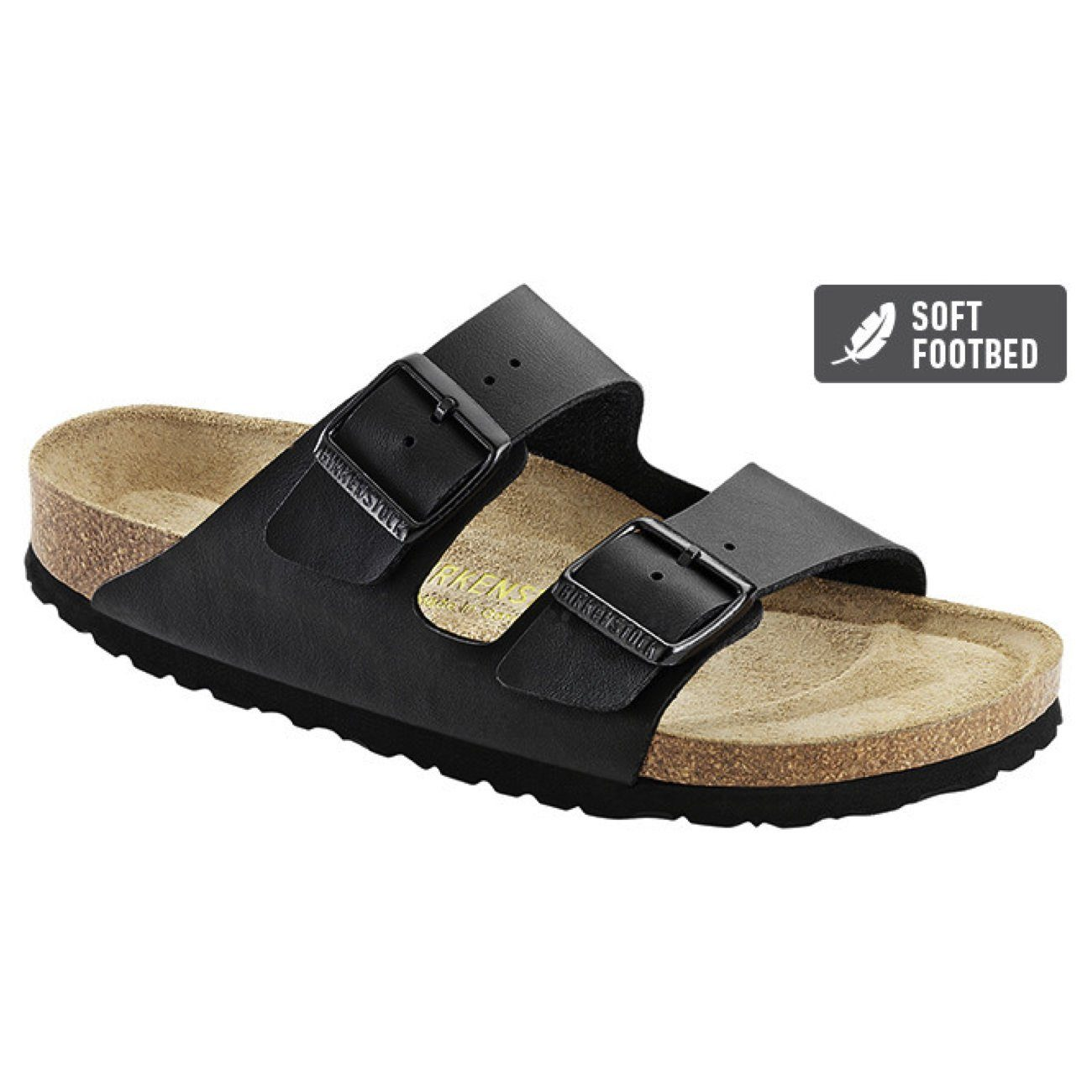 Birkenstock Classic, Arizona, Birko-Flor, Soft Footbed, Narrow Fit, Black Sandals Birkenstock Classic Black 35