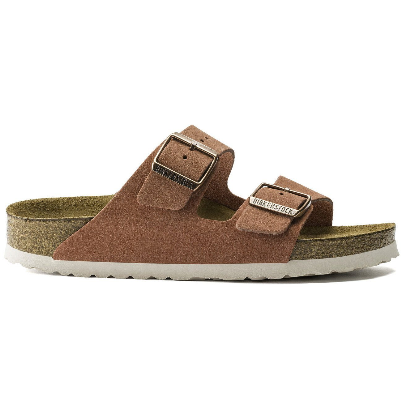 Birkenstock Seasonal, Arizona, Suede Leather, Soft Footbed, Regular Fit, Earth Red Sandals Birkenstock Seasonal