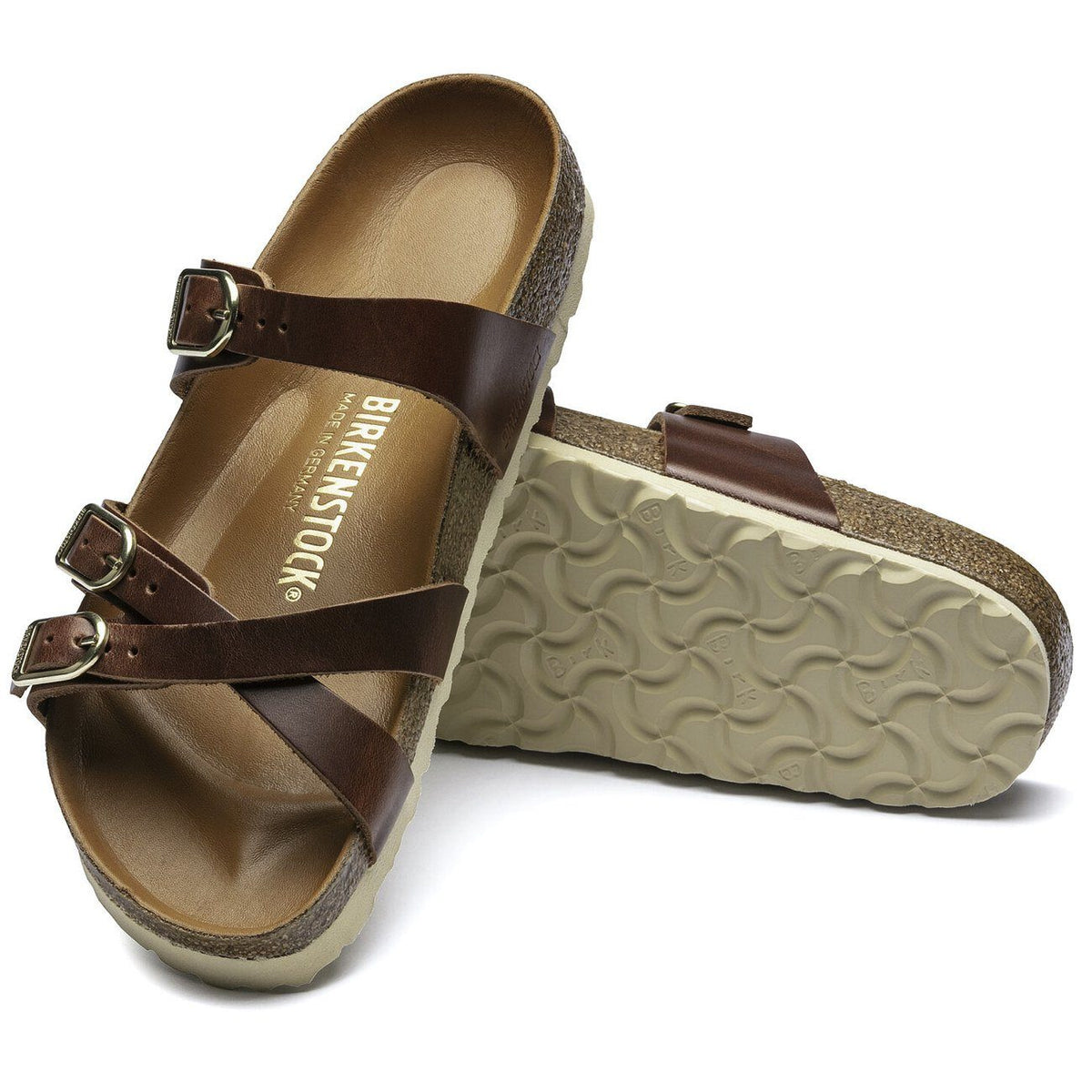 Birkenstock Seasonal, Franca, Oiled Leather, Regular Fit, Cognac Sandals Birkenstock Seasonal