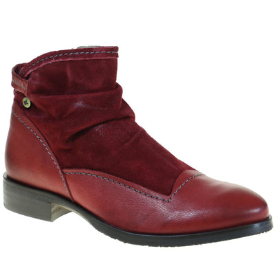 Dkode, DKW18-Hyria, Boots, Leather, Red Boots Dkode Red 36