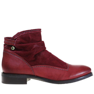 Dkode, DKW18-Hyria, Boots, Leather, Red Boots Dkode