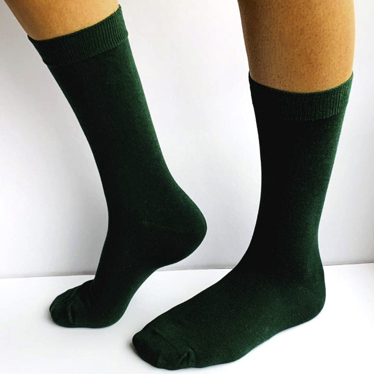 Dr Socks, 95% Cotton, 5% Elastane, Loose top, No Toe Seam, Green