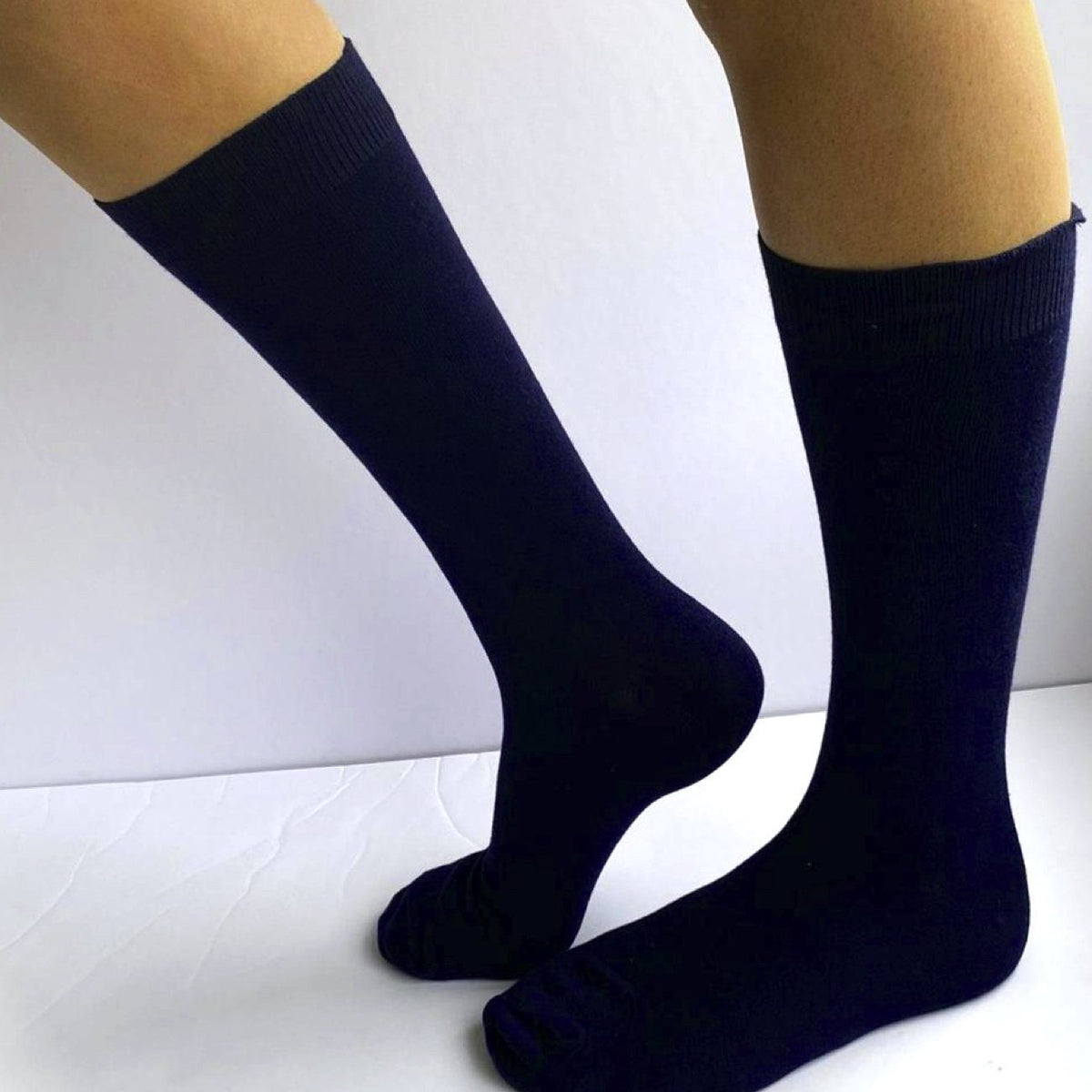 Dr Socks, 95% Cotton, 5% Elastane, Loose top, No Toe Seam, Navy