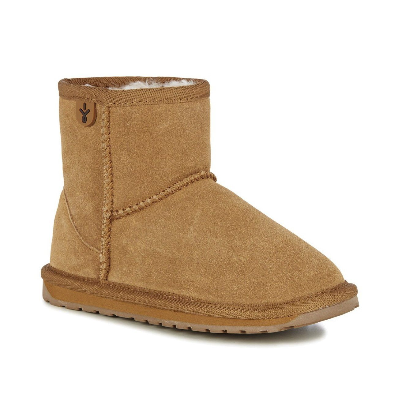 Emu Australia, Wallaby, Childrens, Suede Leather, Mini Chestnut Ugg Boots Emu Australia Chestnut 10