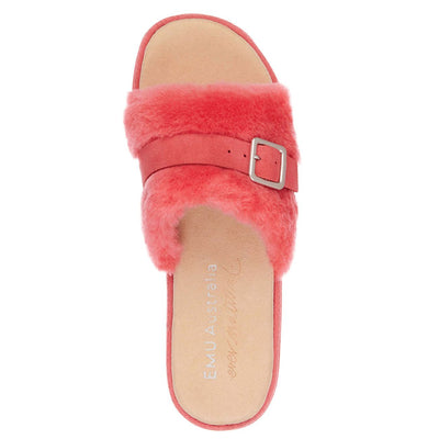 EMU, Warden Stinger Slide, Australian Sheepskin, Coral House Shoes Emu Australia