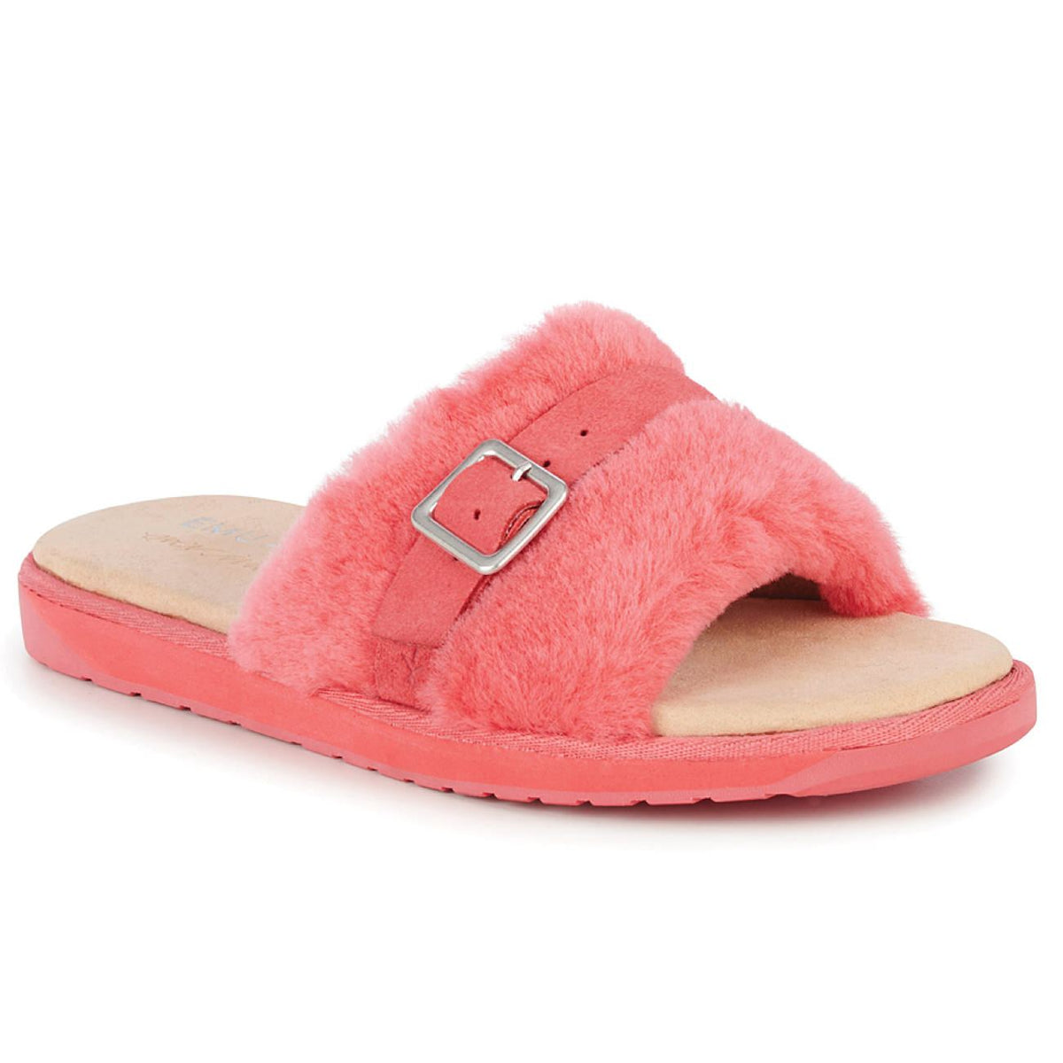 EMU, Warden Stinger Slide, Australian Sheepskin, Coral House Shoes Emu Australia Coral W5