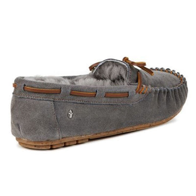 Emu Australia, Amity, Moccasin, Charcoal House Shoes Emu Australia