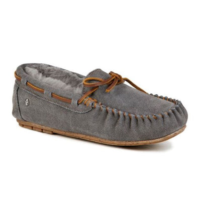 Emu Australia, Amity, Moccasin, Charcoal House Shoes Emu Australia Charcoal W6