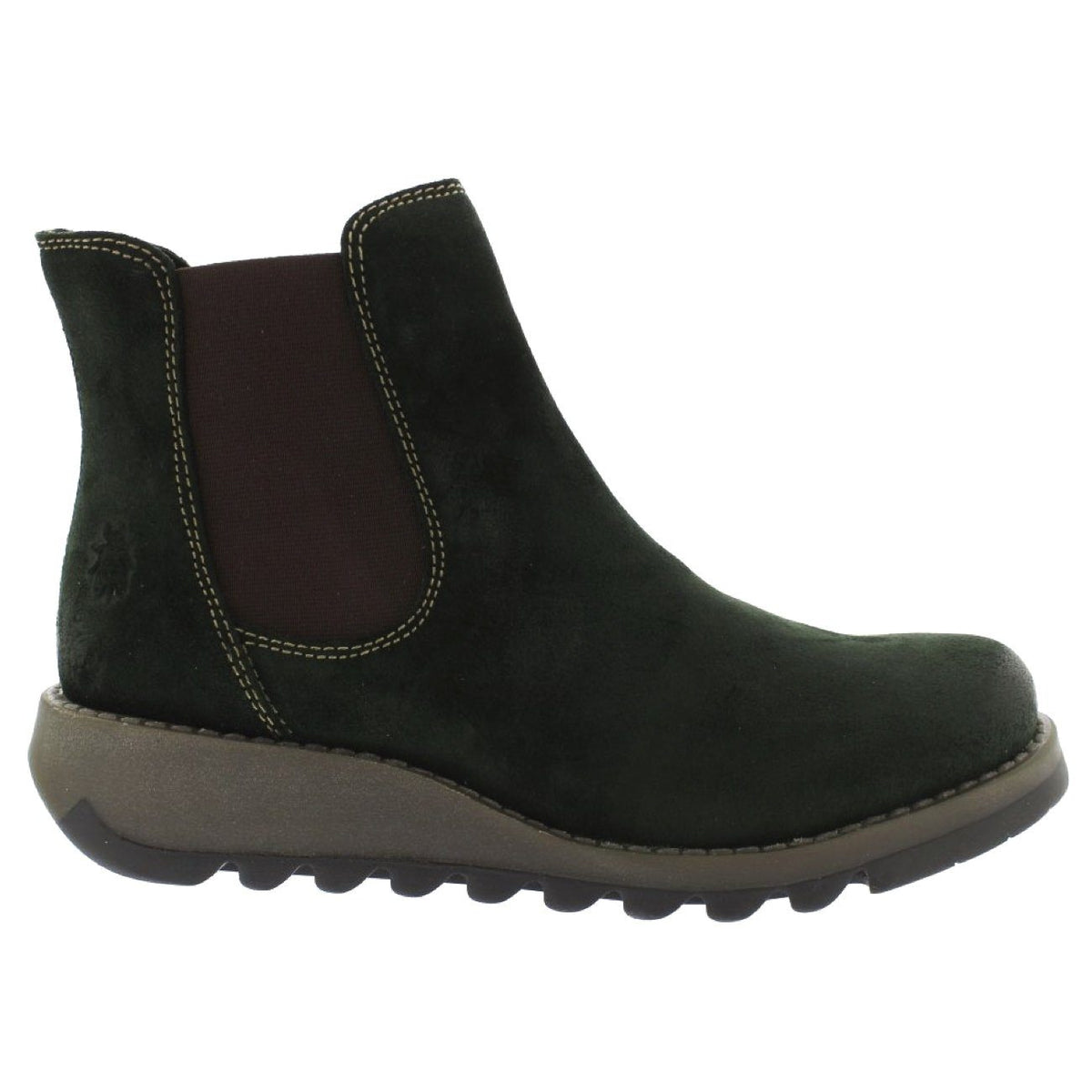 Fly London, FLW21 Salv, Boot, Oiled Suede Leather, Green Forest