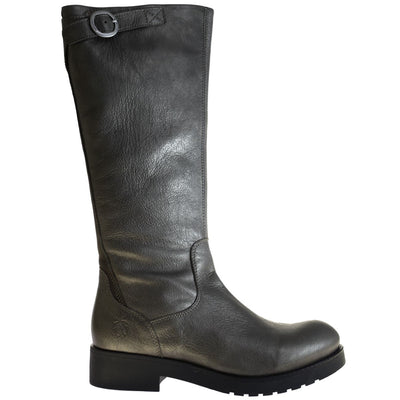 Fly London, Beko, Boot, Leather, Grey/Ground 002 Boots Fly London