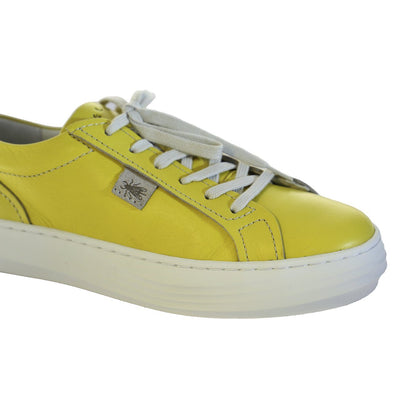 Fly London, FLS20 Cive, Laceup Shoes, Leather, Yellow Shoes Fly London