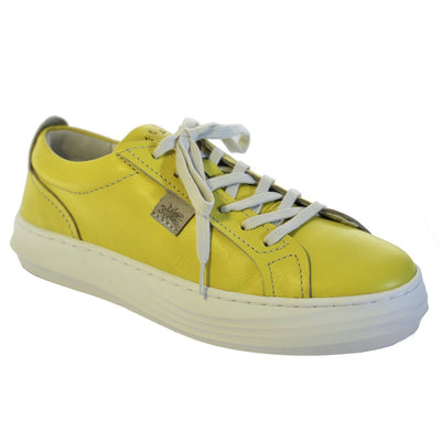 Fly London, FLS20 Cive, Laceup Shoes, Leather, Yellow Shoes Fly London Yellow 37
