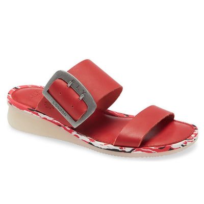 Fly London, FLS20 Cape, Slide, Leather, Lipstick Red Sandals Fly London Lipstick Red 37