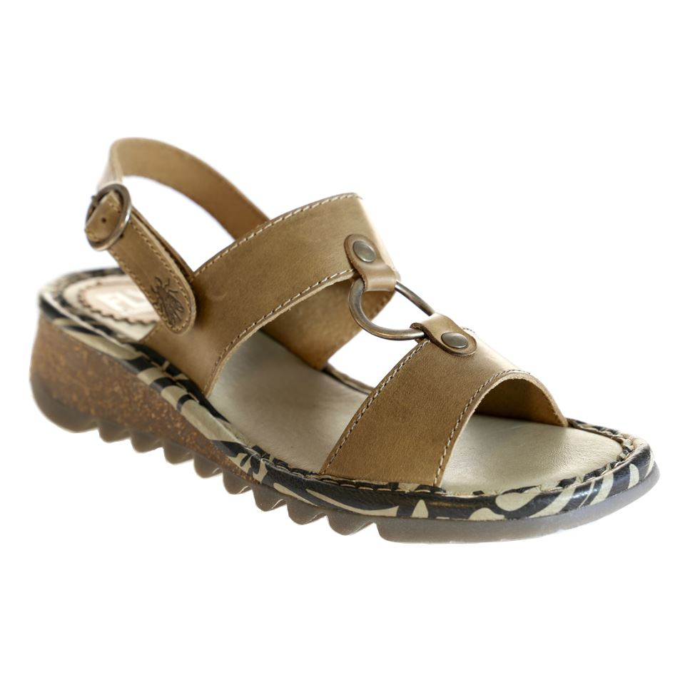 Fly London, Taco, Sandal, Leather, Camel Sandals Fly London Camel 38