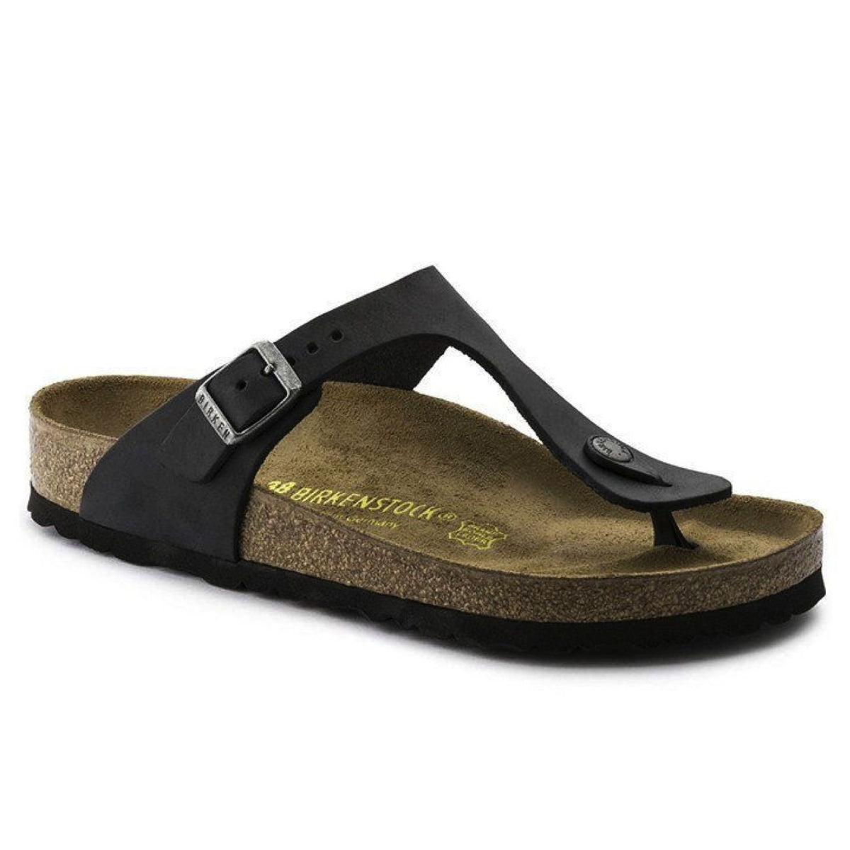 Birkenstock Seasonal, Gizeh, Oiled Leather, Regular Fit, Black Sandals Birkenstock Seasonal Black 35
