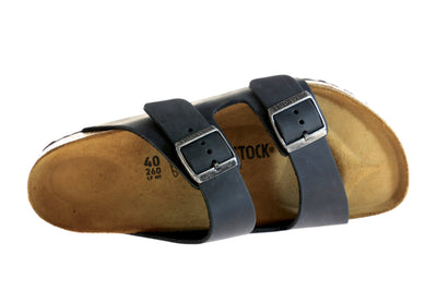 Birkenstock Classic, Arizona, Oiled Leather, Regular Fit, Black Sandals Birkenstock Classic