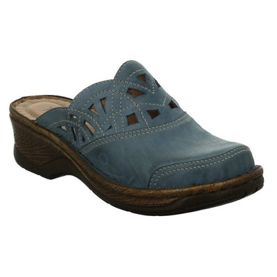 Josef Seibel, Catalonia 41, Clog, Leather, Azur Clogs Josef Seibel Azur 41
