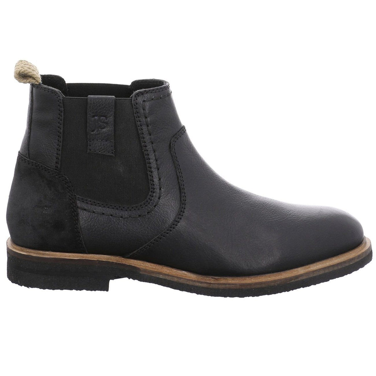 Josef Seibel, Stanley 03, Leather, Boot, Black Boots Josef Seibel