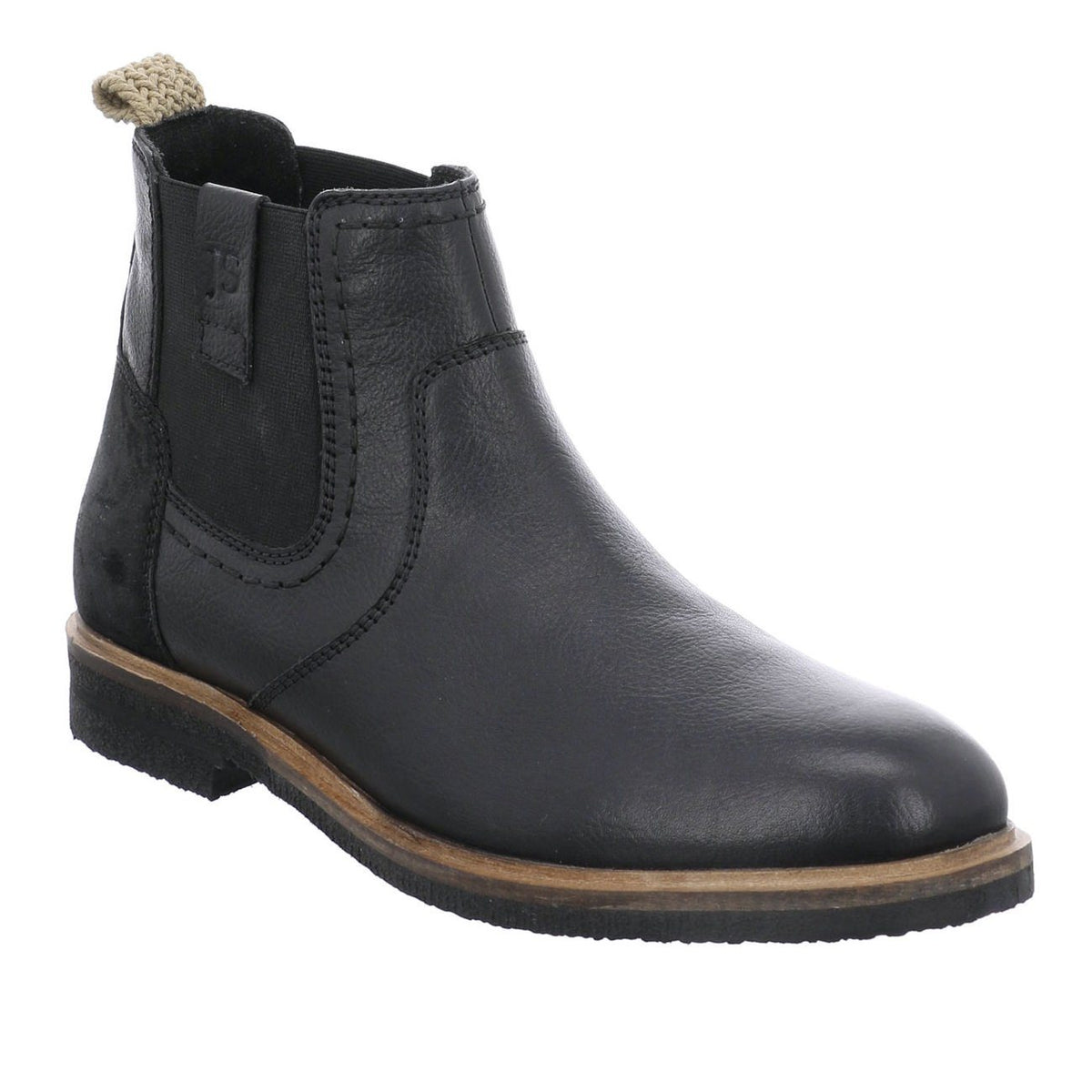 Josef Seibel, Stanley 03, Leather, Boot, Black Boots Josef Seibel Black 40