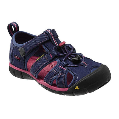 Keen Kids, Seacamp, Washable Polyester Webbing, Toddler, Ensign Blue/Camellia Rose Sandals Keen Ensign Blue/Camellia Rose 11