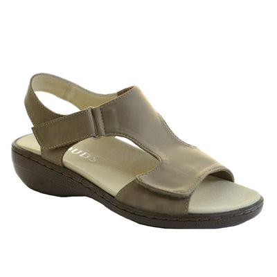 Klouds, Adele Stretch, Sandal, Leather, Stone Sandals Klouds Stone 36