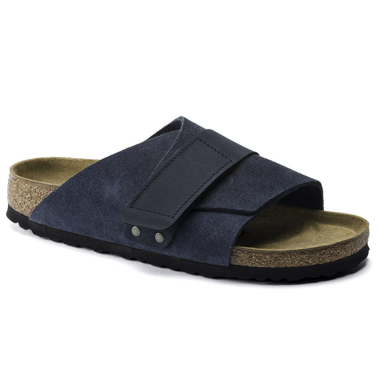 Birkenstock Seasonal, Kyoto, Suede/Nubuck Leather, Regular Fit, Navy Sandals Birkenstock Seasonal Navy 39