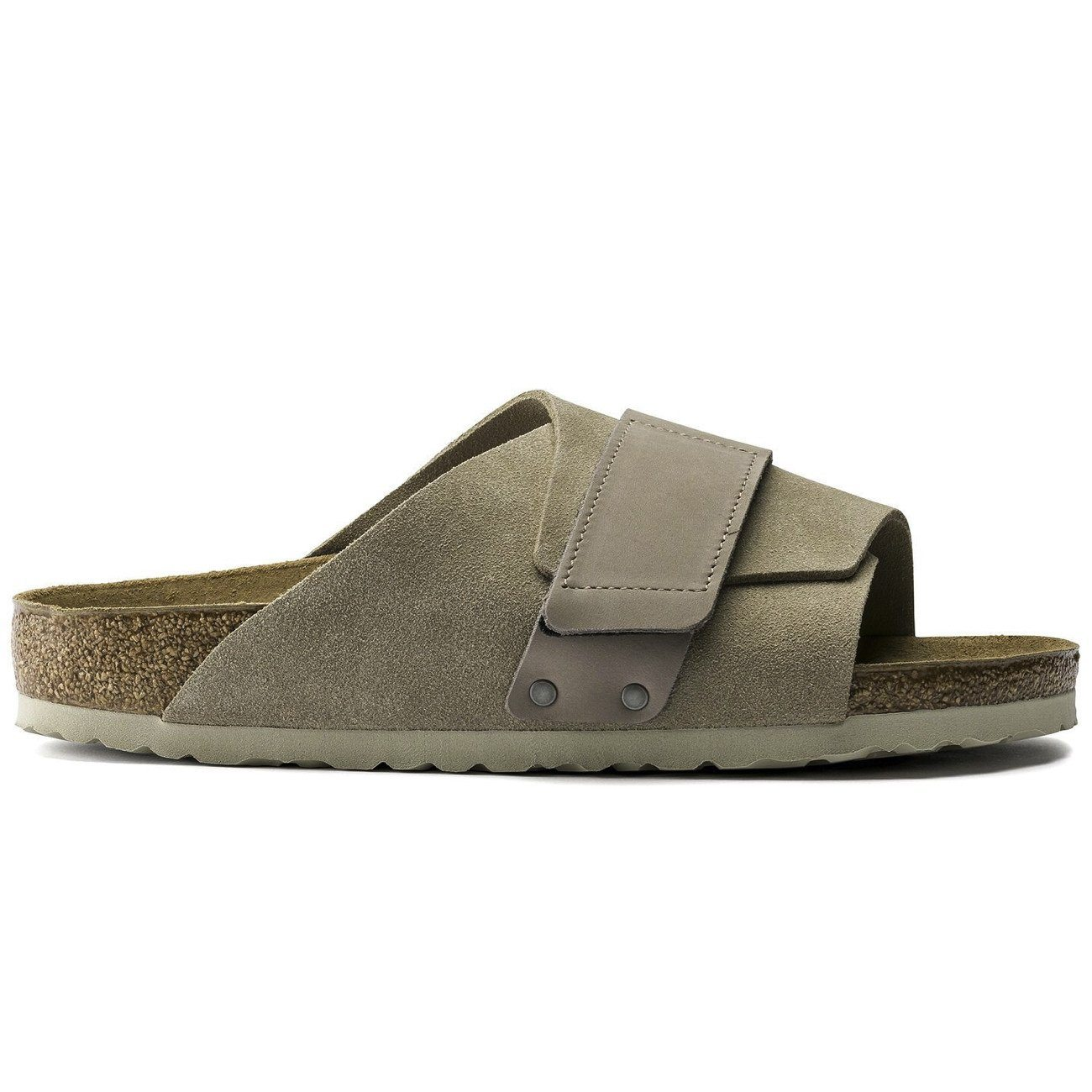 Birkenstock Seasonal, Kyoto, Suede/Nubuck Leather, Narrow Fit, Taupe Sandals Birkenstock Seasonal Taupe 36