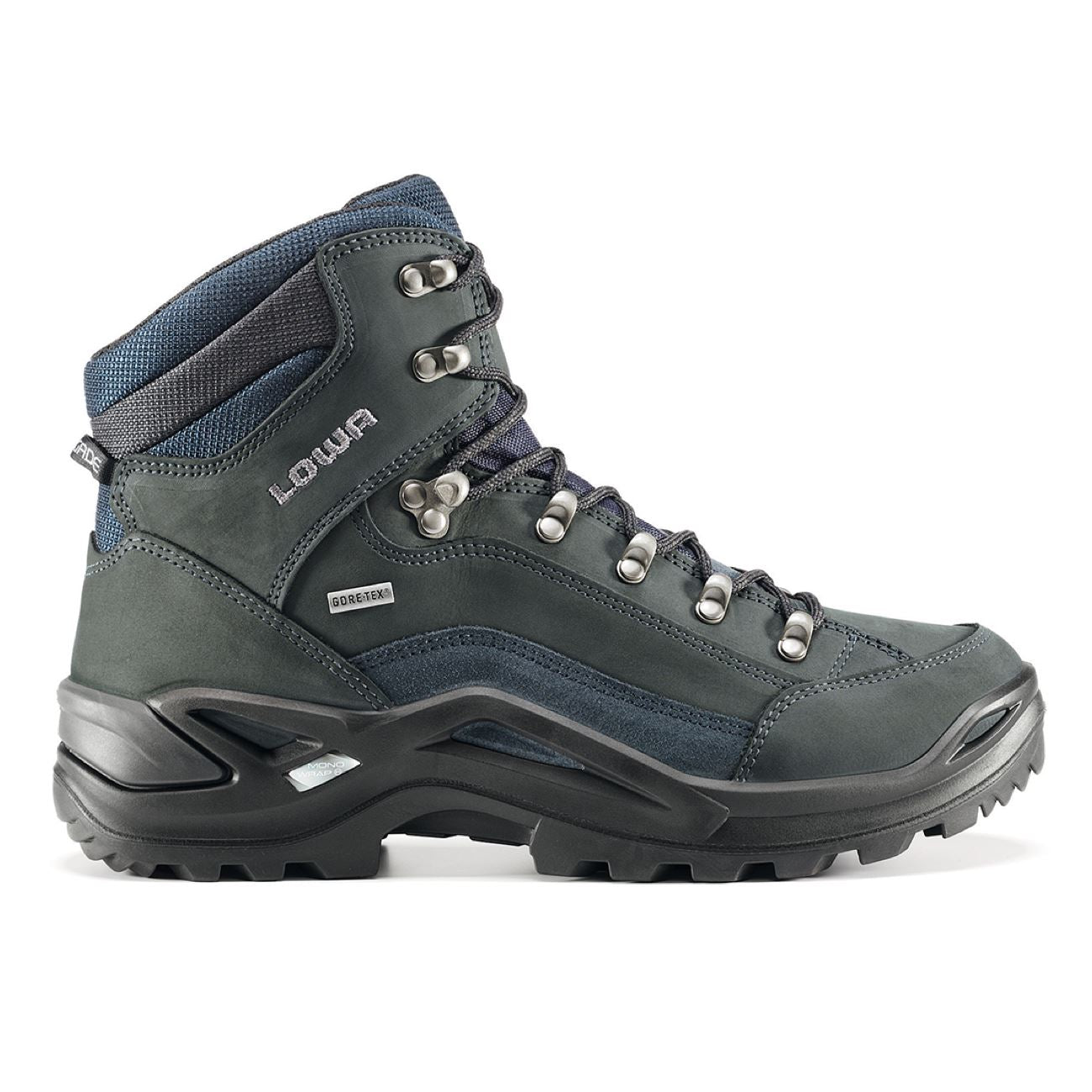 LOWA, Renegade GTX Mid, WXL-Wide, Men's, Dark Grey/Navy Hiking Boots LOWA Dark Grey/Navy 10UK