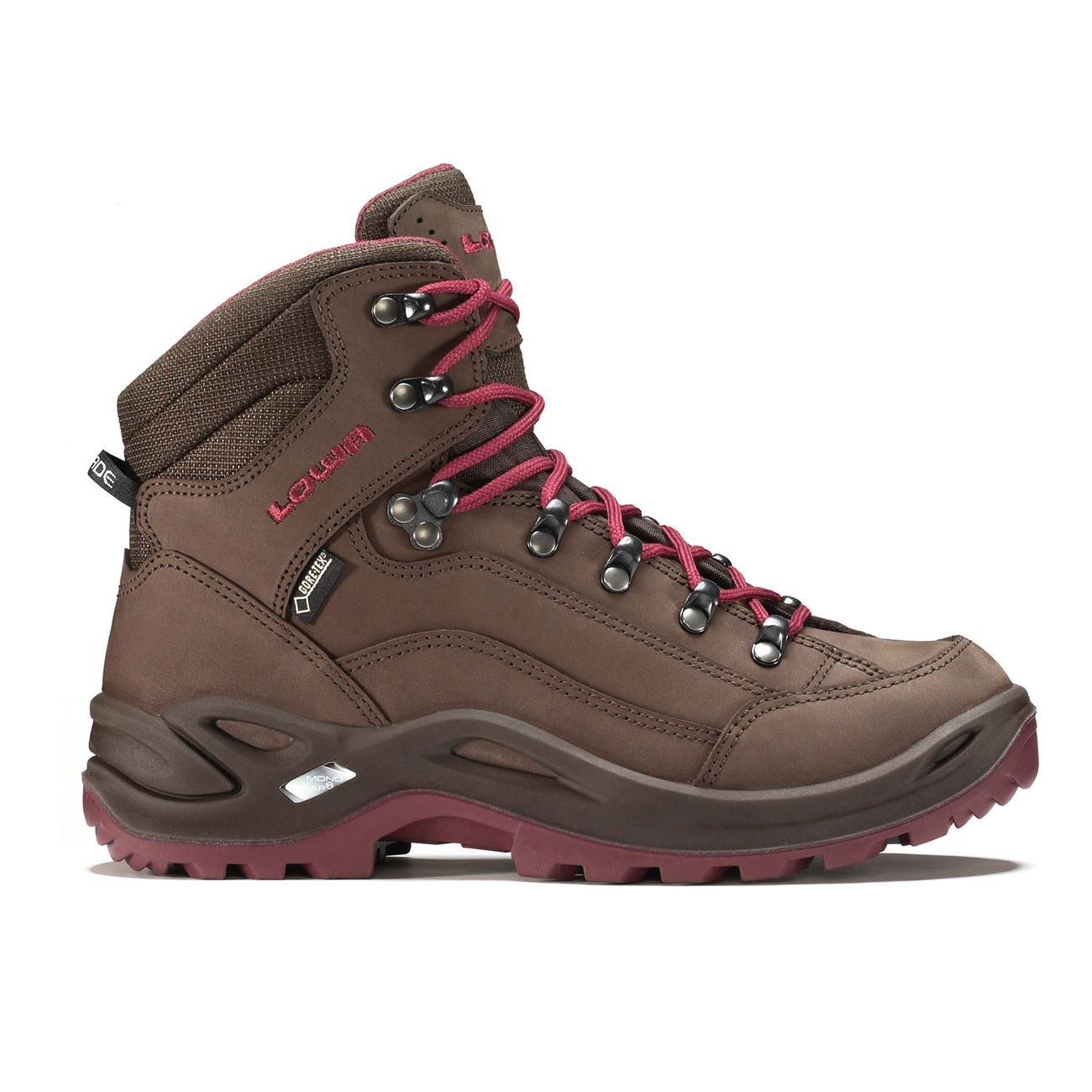 LOWA, Renegade GTX Mid, Women's, Espresso/Berry Hiking Boots LOWA Espresso/Berry 4UK