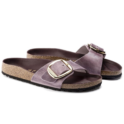 Birkenstock Seasonal, Madrid, Oiled Leather, Narrow Fit, Lavender Blush Sandals Birkenstock Seasonal