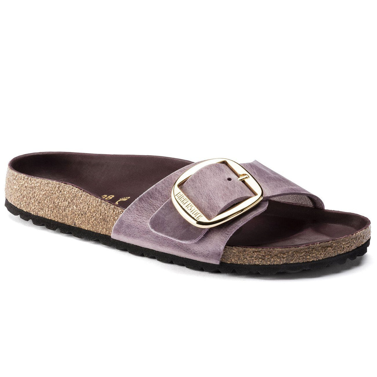 Birkenstock Seasonal, Madrid, Oiled Leather, Narrow Fit, Lavender Blush Sandals Birkenstock Seasonal Lavender Blush 35