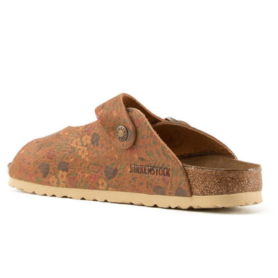 Birkenstock Seasonal, Malmedy Vintage Flowers, Smooth Leather, Narrow Fit, Cognac Sandals Birkenstock Seasonal