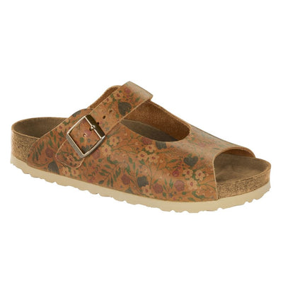 Birkenstock Seasonal, Malmedy Vintage Flowers, Smooth Leather, Narrow Fit, Cognac Sandals Birkenstock Seasonal Cognac 37