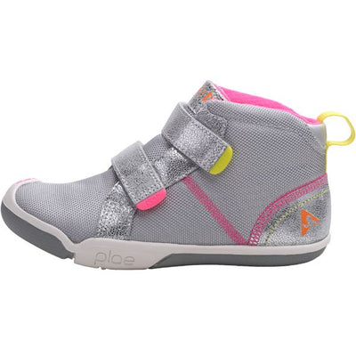 PLAE, Max, Children's Shoes, Hi-top, Metallic Suede / Nylon, Silver Shoes PLAE