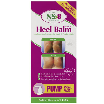 NS-8 Heel Balm Complex, 250ml Pump Skin Care Products Plunkett Heal Balm
