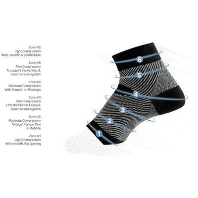 Global Footcare, OS1st Performance Foot Sleeve Socks Global Footcare Natural M