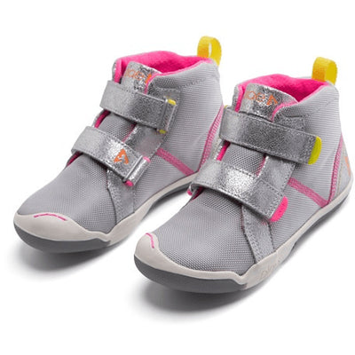 PLAE, Max, Children's Shoes, Hi-top, Metallic Suede / Nylon, Silver Shoes PLAE Silver 8.5
