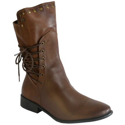 Perlatto, PRW20-06, Boot, Leather, Brown Boots Perlatto Brown 37